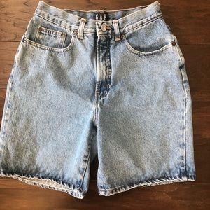 Vintage 1980s 1990s Gap Stonewashed Jean Shorts